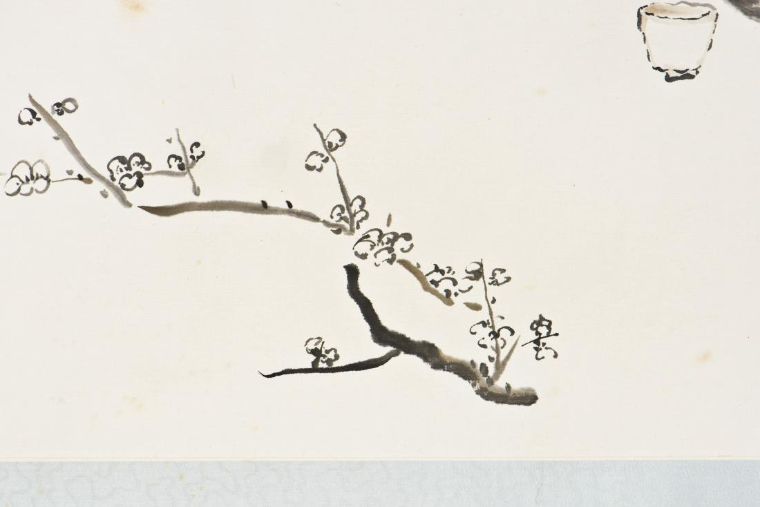A CHINESE SCROLL PAINTING OF PLUM MOTIF - 5