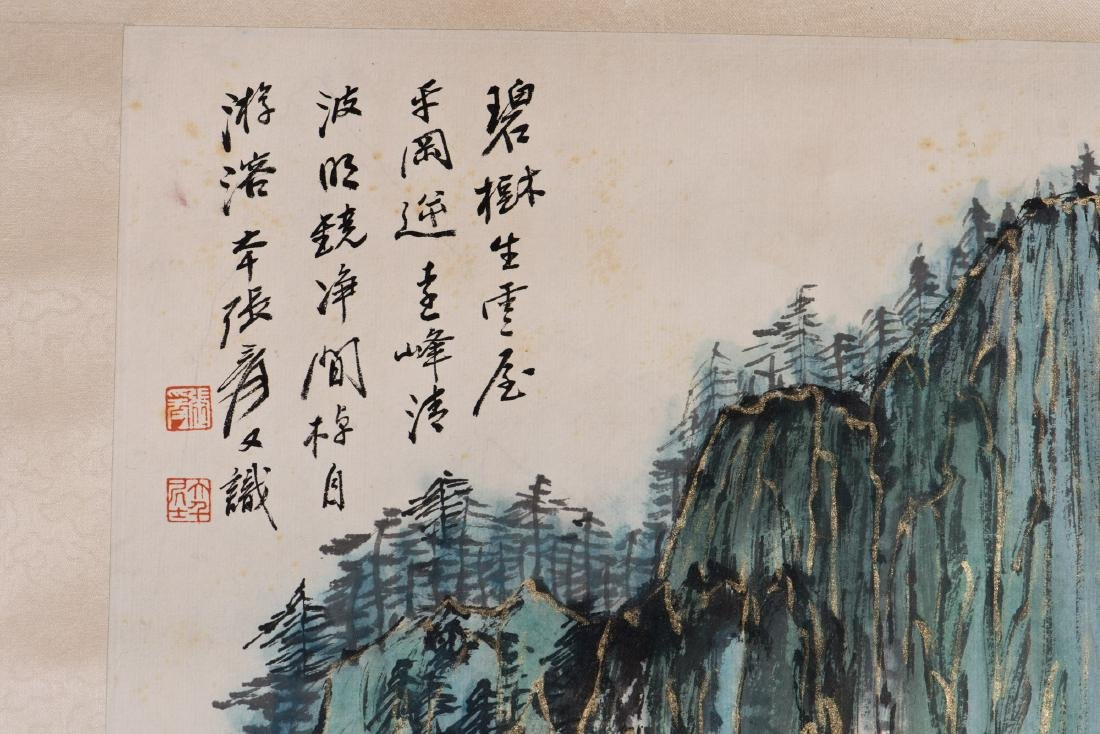 A CHINESE SCROLL PAINTING, AFTER ZHANG DAQIAN - 2