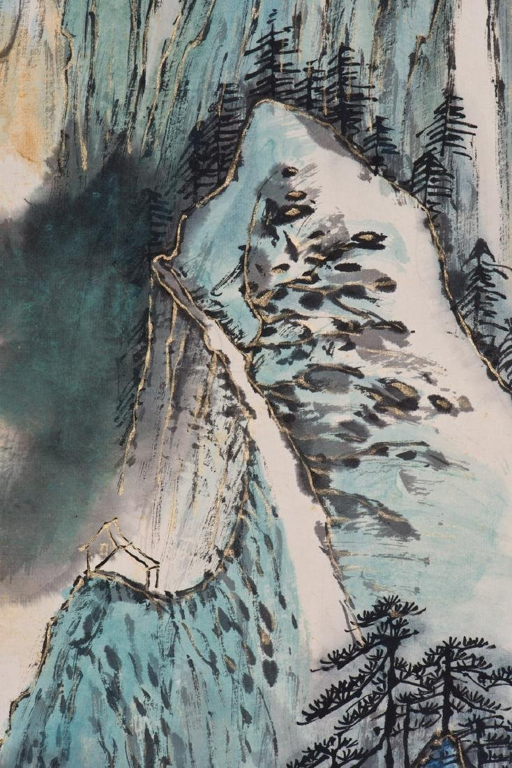 A CHINESE SCROLL PAINTING, AFTER ZHANG DAQIAN - 4