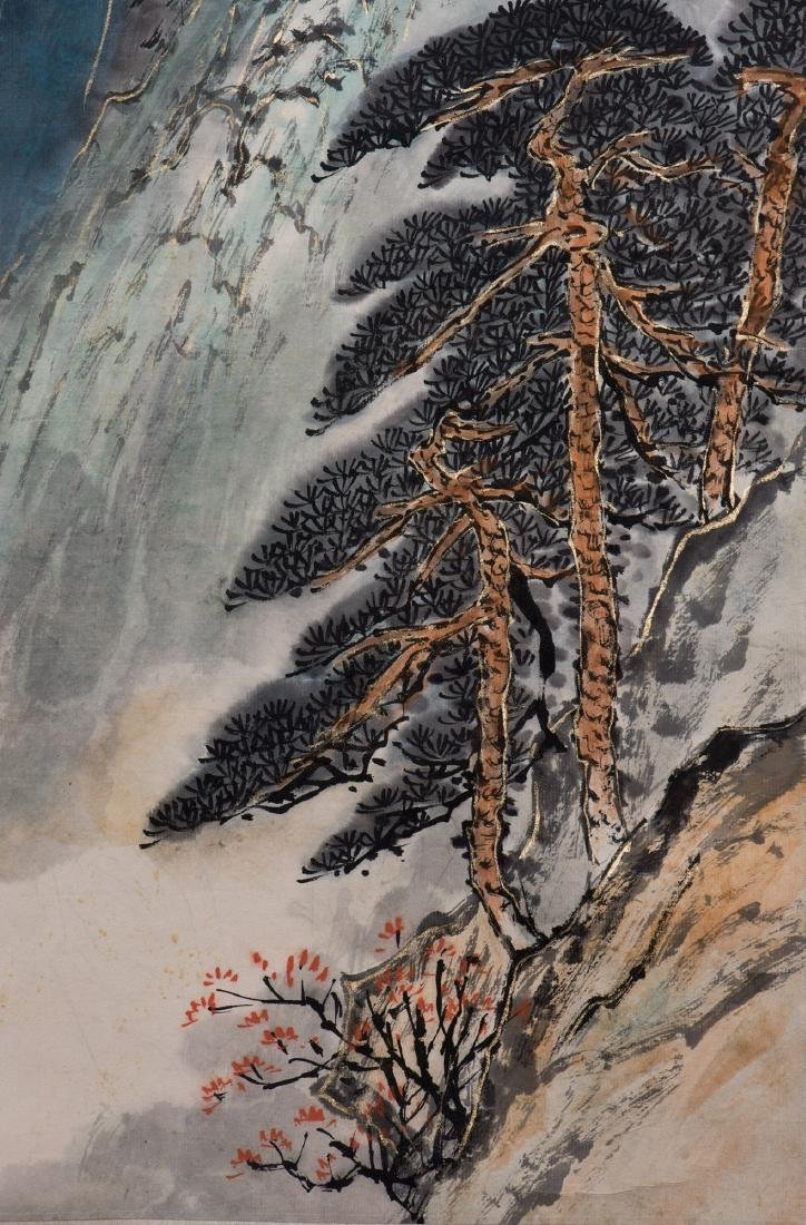 A CHINESE SCROLL PAINTING, AFTER ZHANG DAQIAN - 5