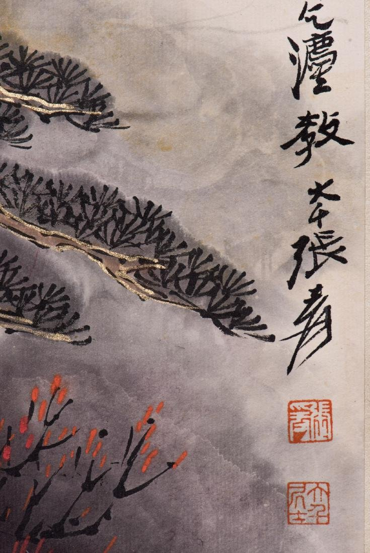 A CHINESE SCROLL PAINTING, AFTER ZHANG DAQIAN - 3