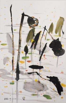 A CHINESE SCROLL PAINTING, AFTER WU GUANZHONG
