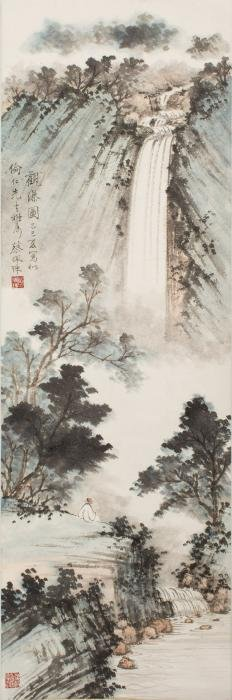 CHINESE SCROLL PAINTING BY CAI PEIZHU, PROVENANCE FROM