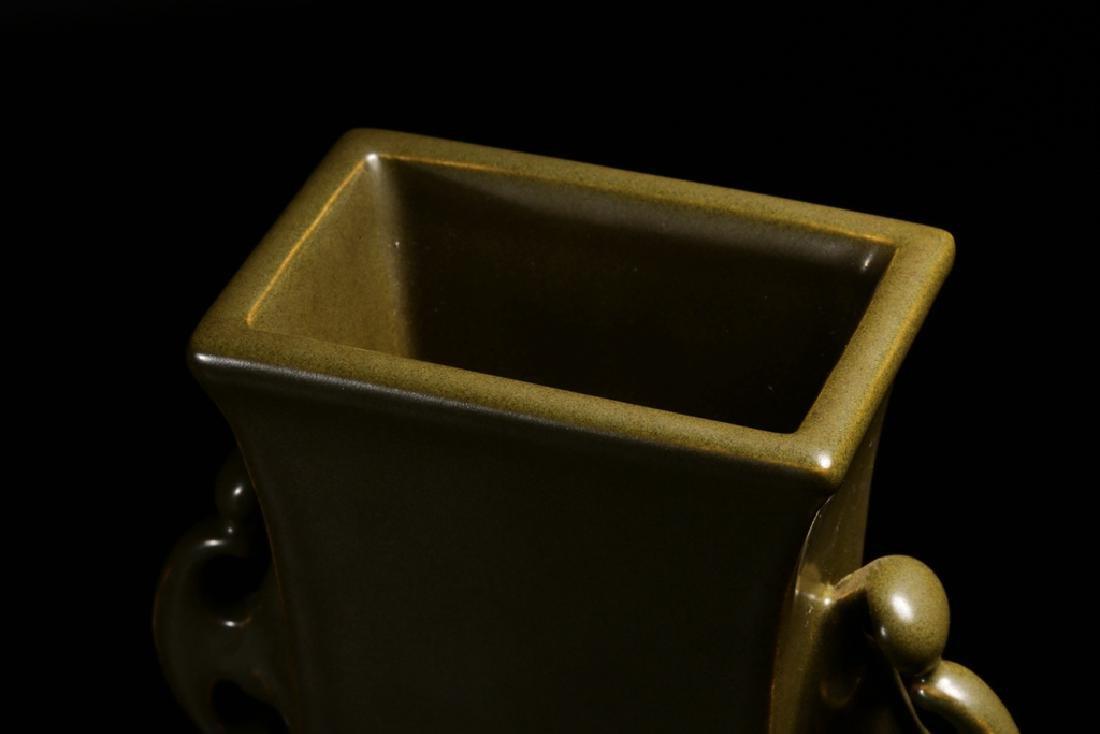 A TEA-DUST-GLAZED HU FORM VASE - 6