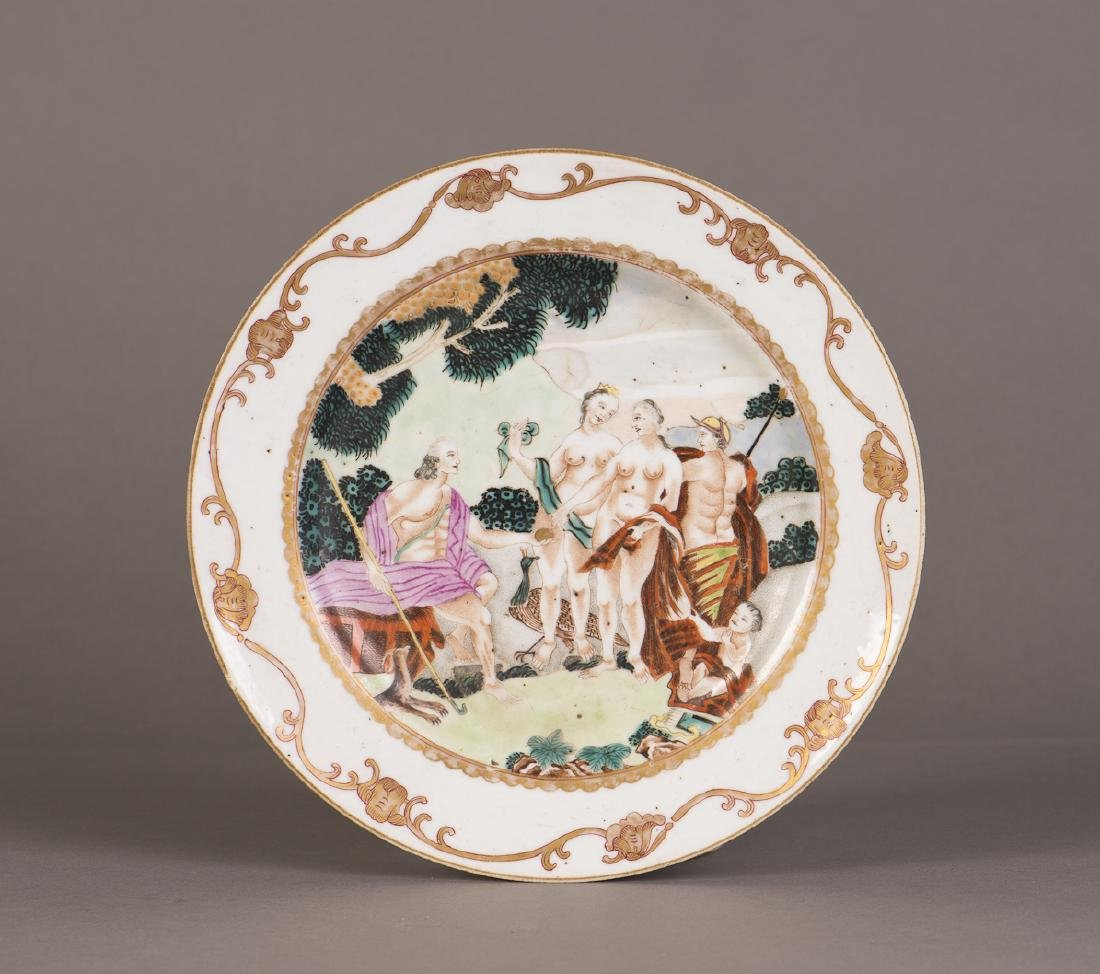 A WESTERN PORCELAIN PLATE