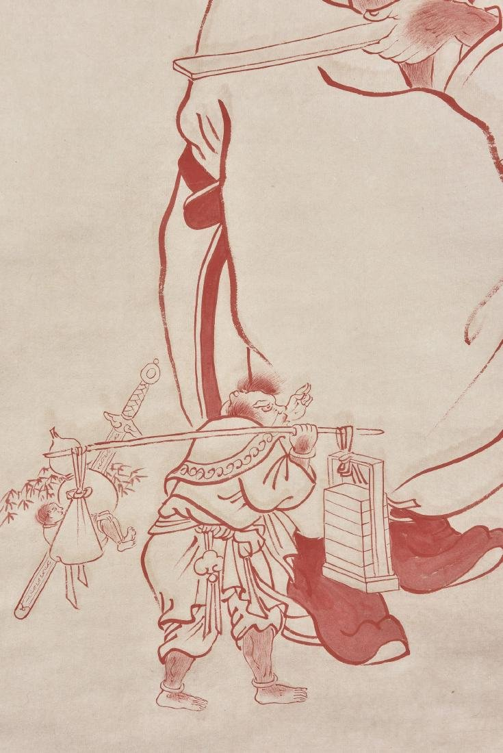 A CHINESE SCROLL PAINTING OF FIGURE - 5
