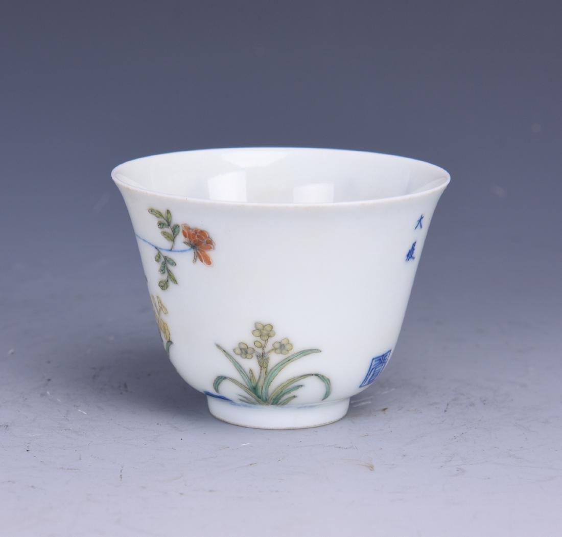 A WUCAI PORCELAIN CUP