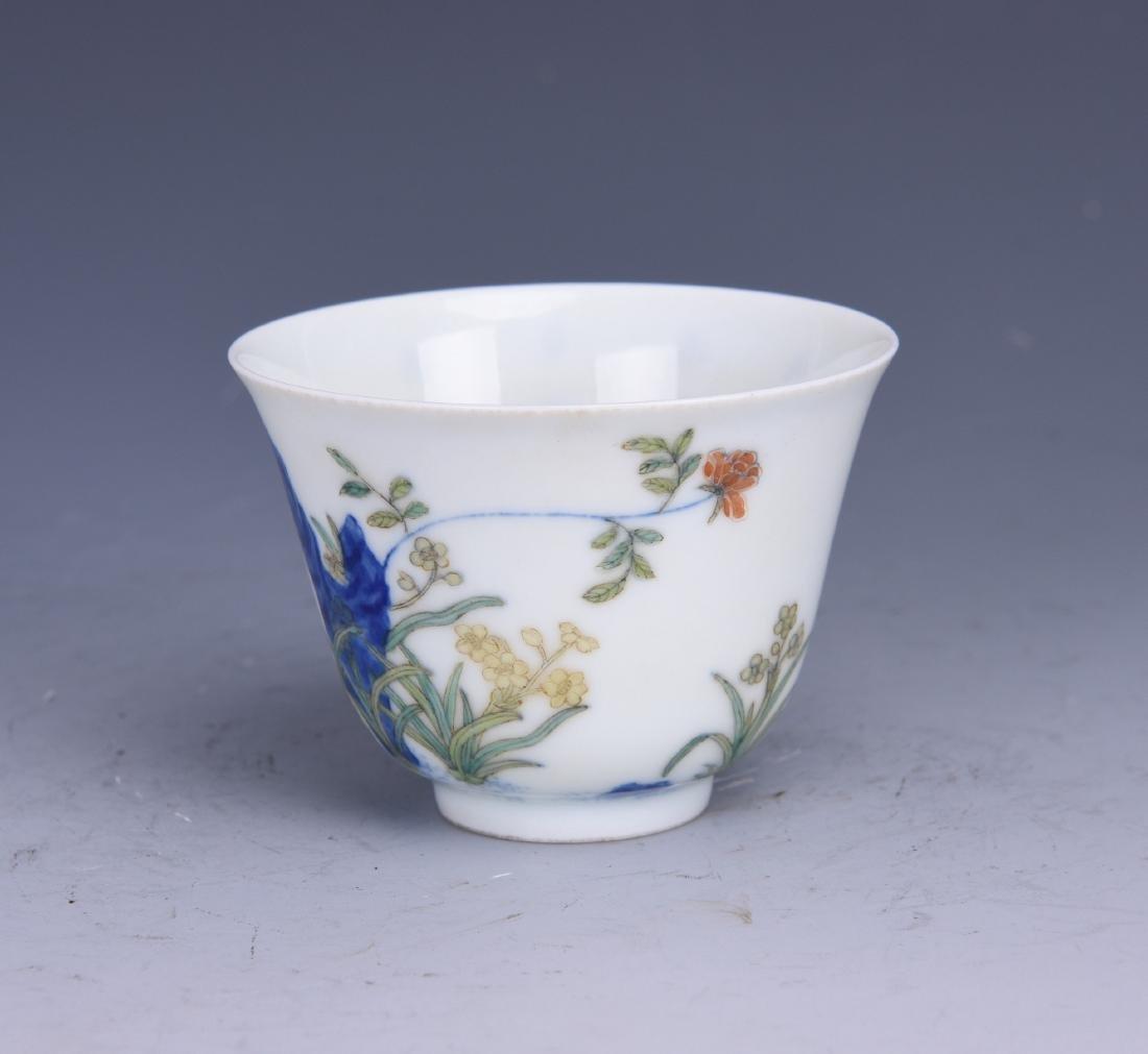 A WUCAI PORCELAIN CUP - 2