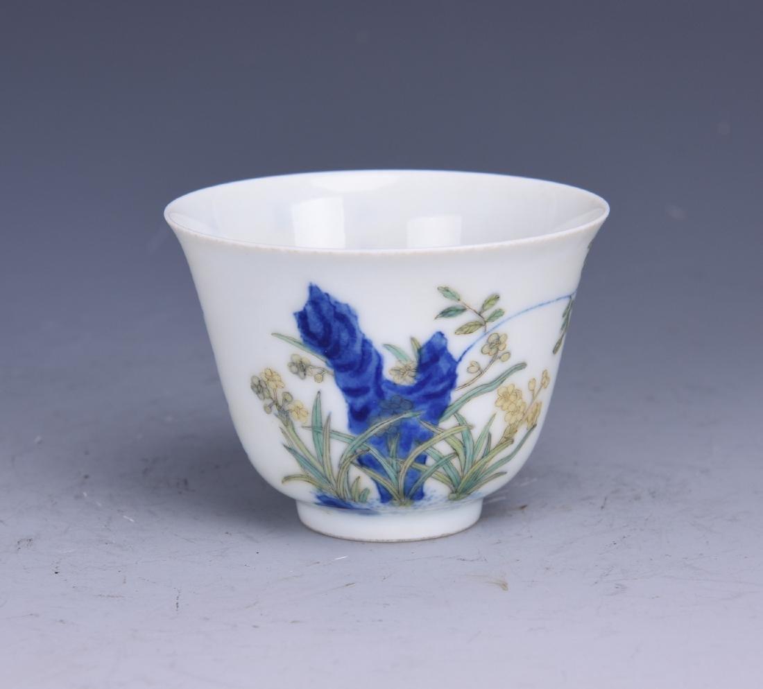 A WUCAI PORCELAIN CUP - 3