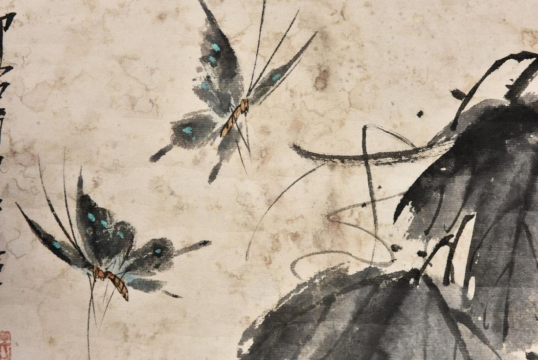 A CHINESE SCROLL PAINTING OF INSECT - 3