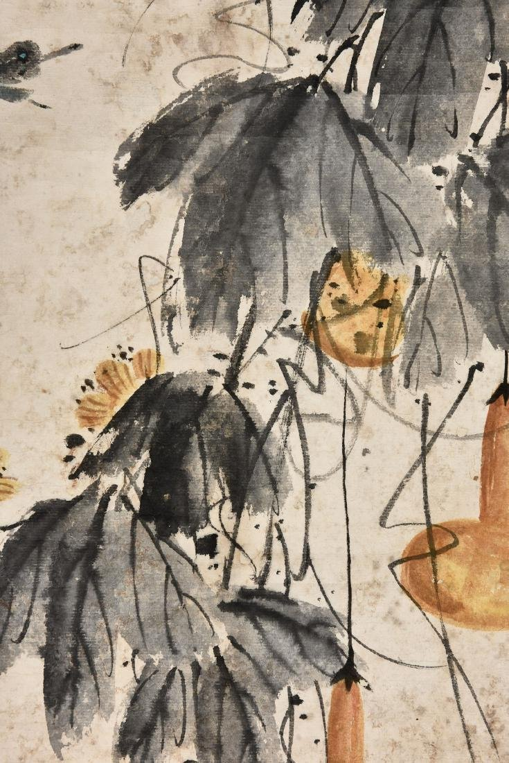 A CHINESE SCROLL PAINTING OF INSECT - 4