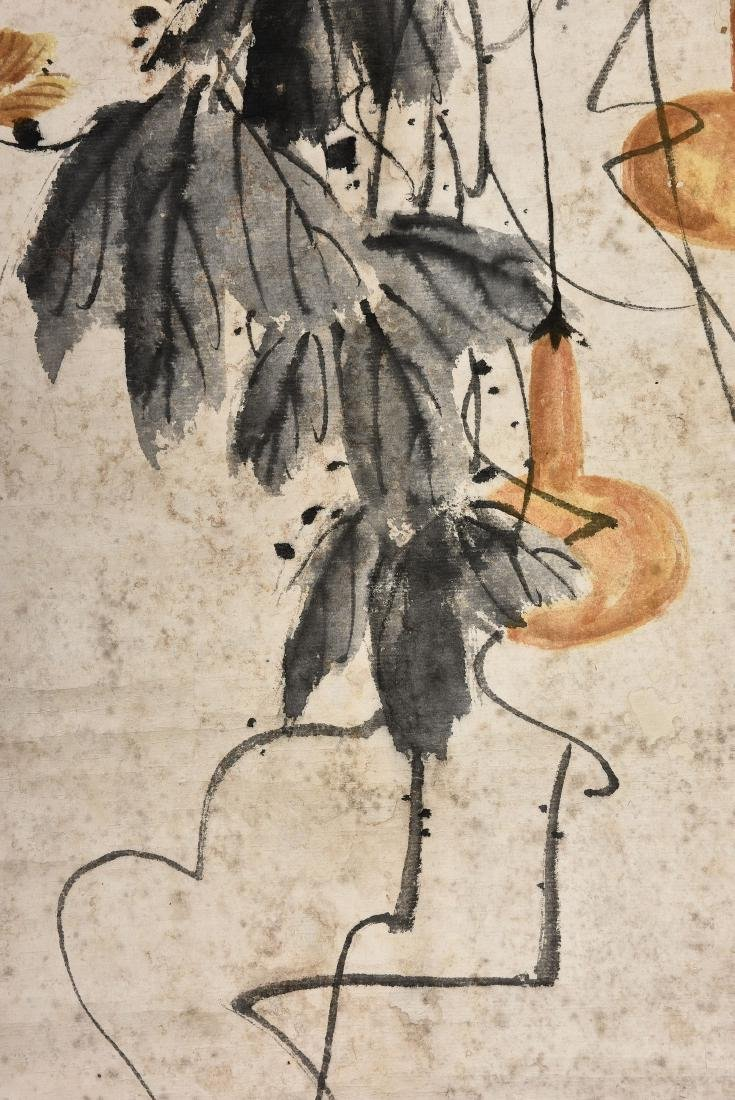 A CHINESE SCROLL PAINTING OF INSECT - 5