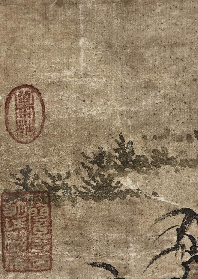 A CHINESE SCROLL PAINTING OF FIGURES - 9