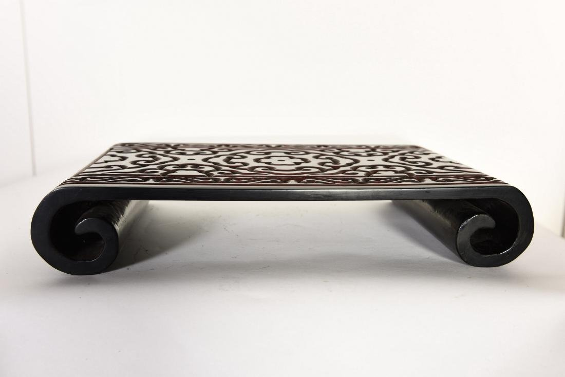 A BLACK LACQUER STAND