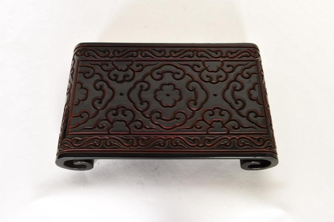 A BLACK LACQUER STAND - 2
