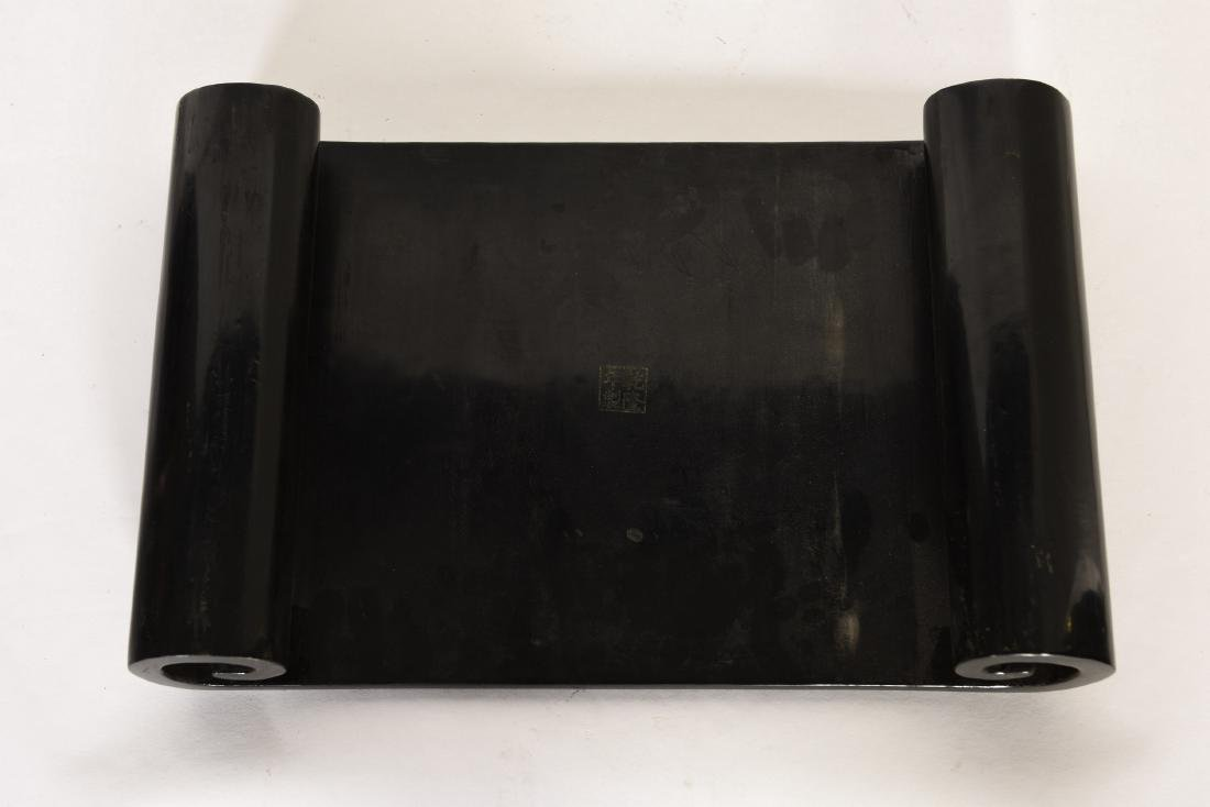 A BLACK LACQUER STAND - 4