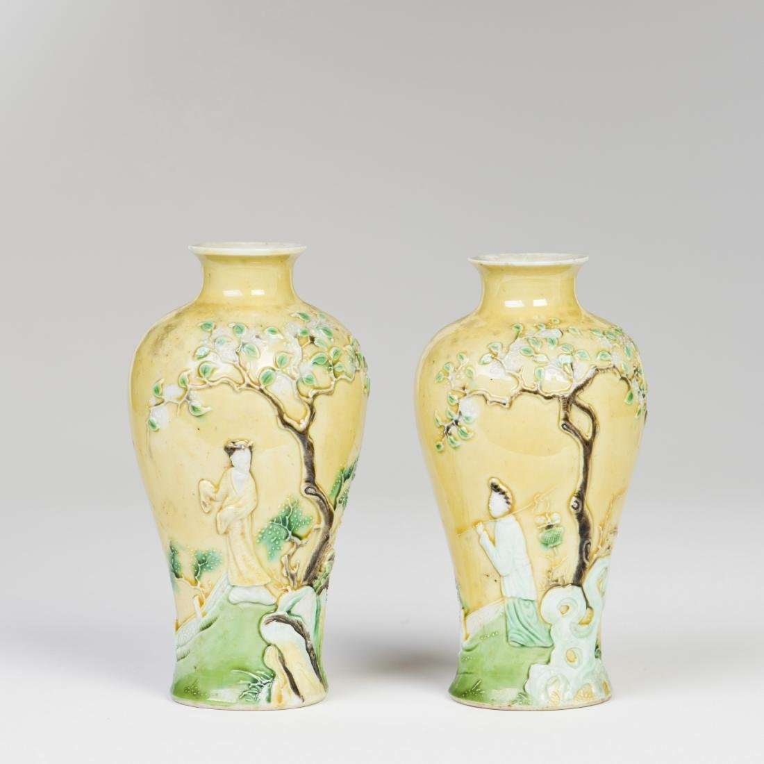 A PAIR OF 'FIGURE' VASES