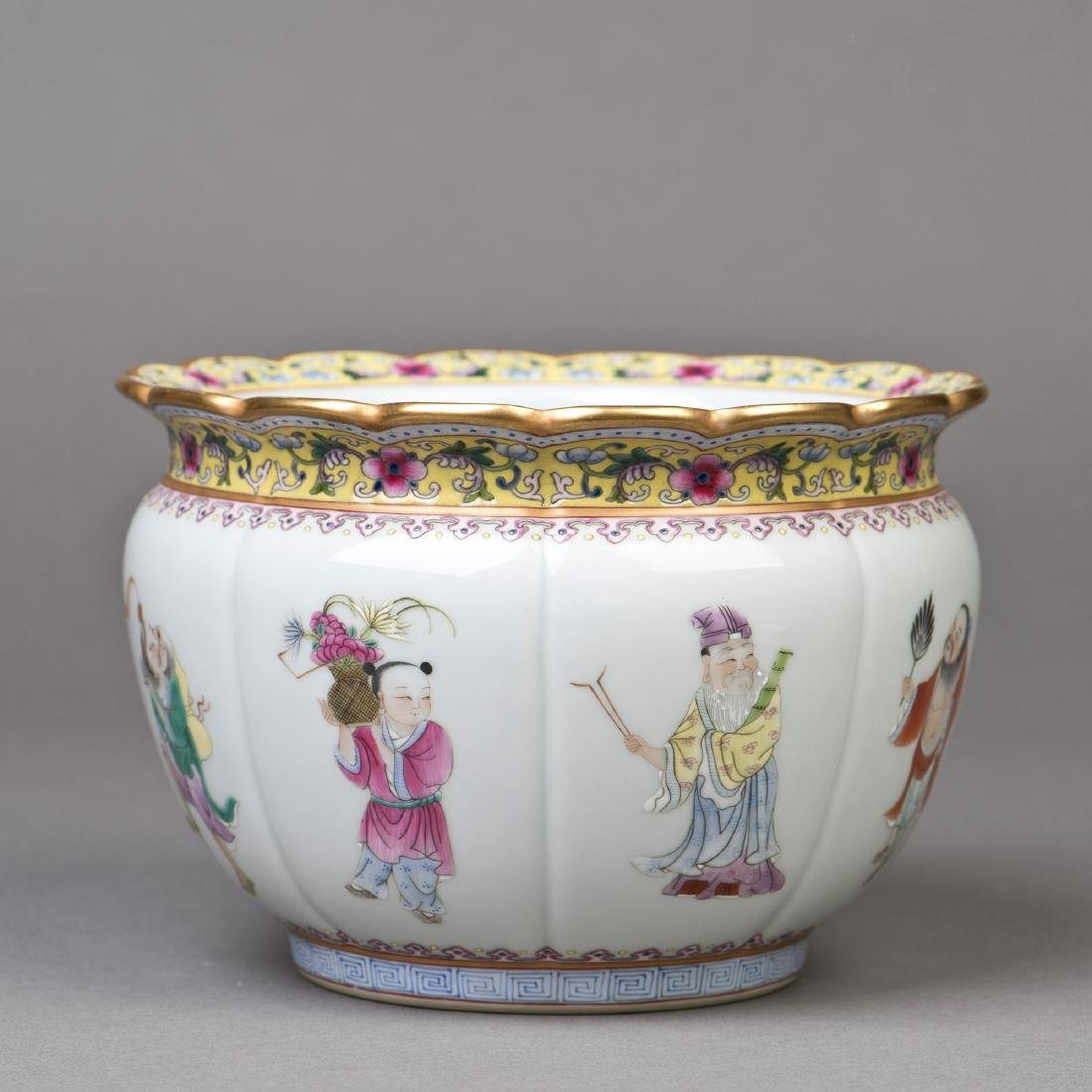 A EIGHT-IMMORTAL MOTIF PORCELAIN JAR