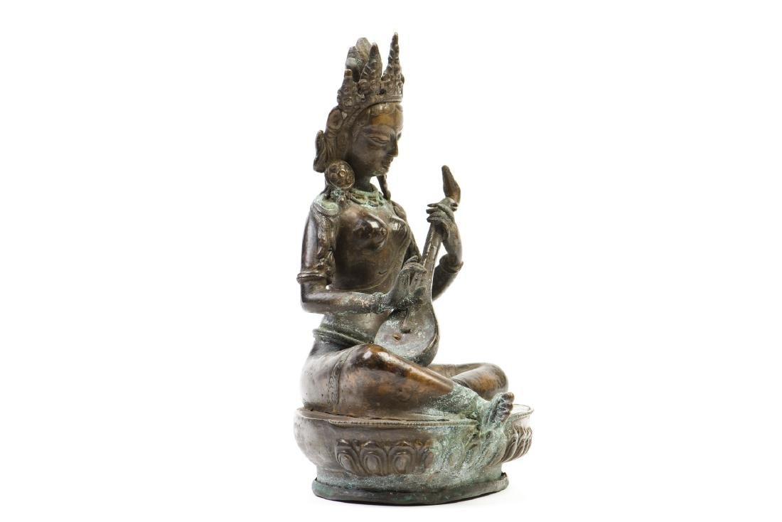 A GILT-BRONZE FIGURE OF BUDDHA - 5