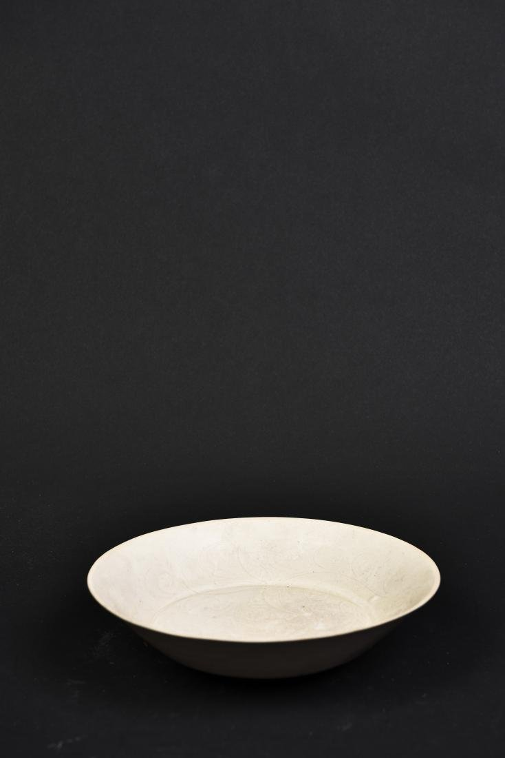 A WHITE YOU GLAZED PORCELAIN DISH