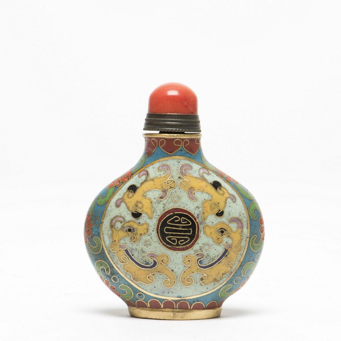 A CLOISONNE SNUFF BOTTLE