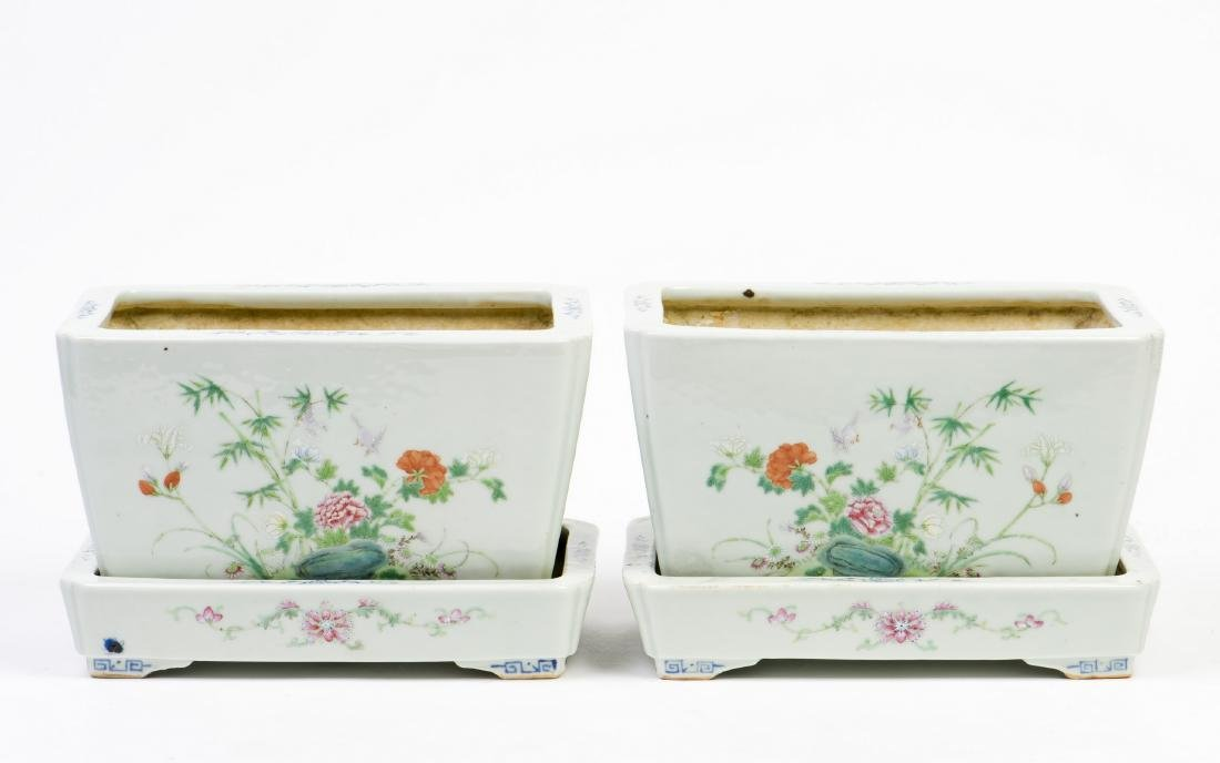 A PAIR OF FAMILLE-ROSE 'FLOWER' PORCELAIN VASES