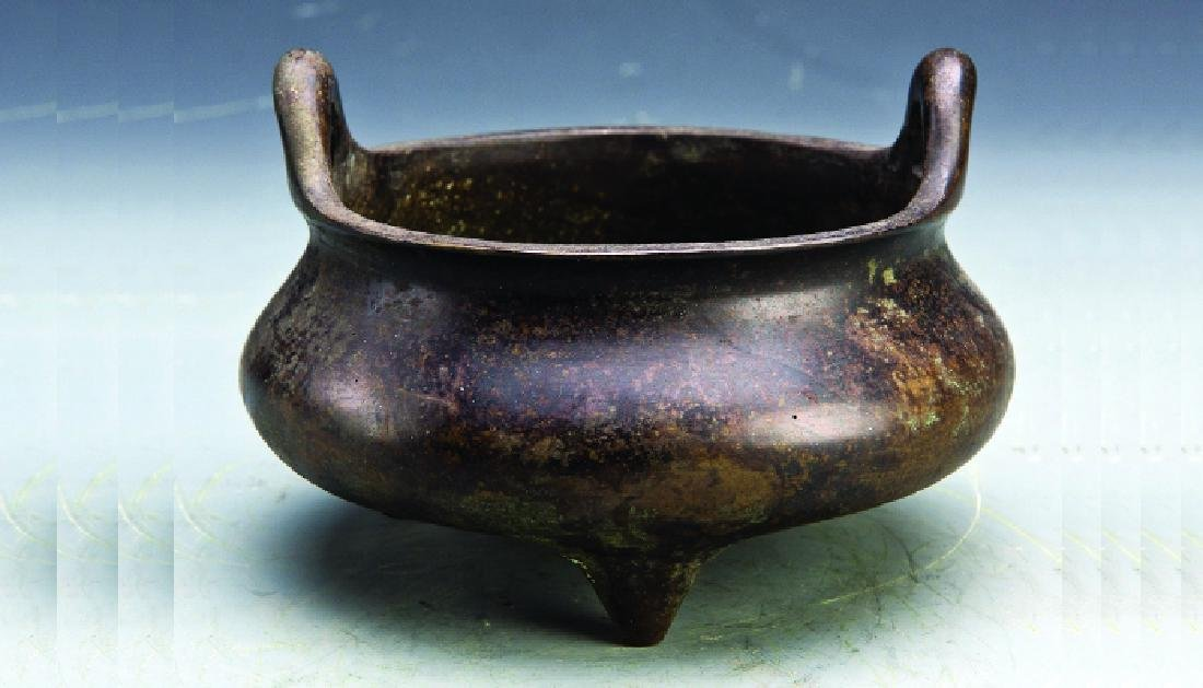 A Three-footed Bronze Censer