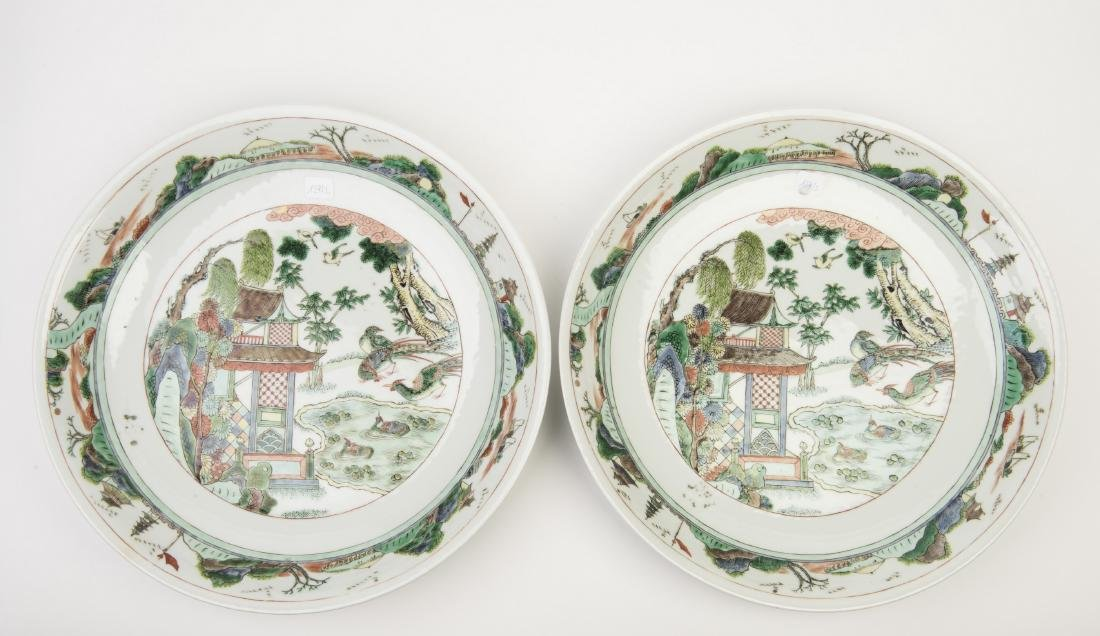 A SET OF TWO PORCELAIN PLATES