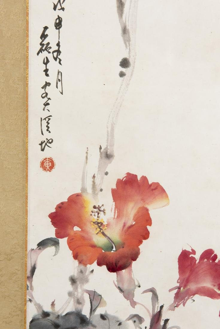 A CHINESE SCROLL PAINTING OF FLORAL MOTIF - 3
