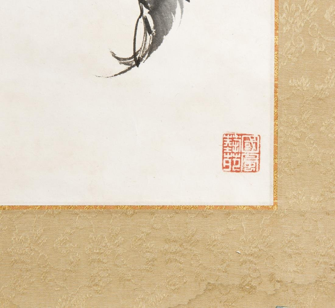 A CHINESE SCROLL PAINTING OF FLORAL MOTIF - 4