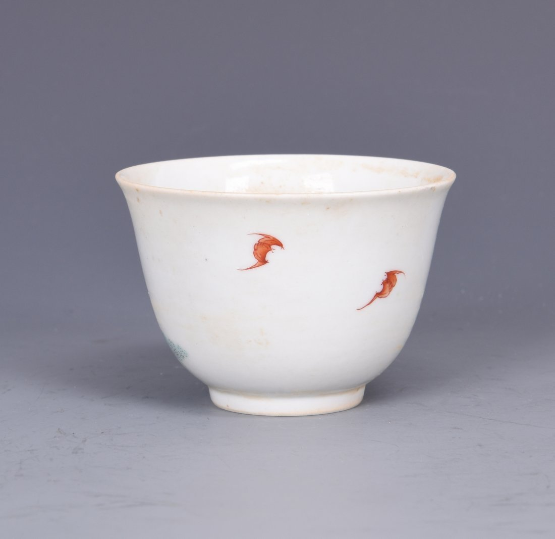 A FAMILLE ROSE PORCELAIN 'FIGURES'  CUP, QING DYNASTY - 3