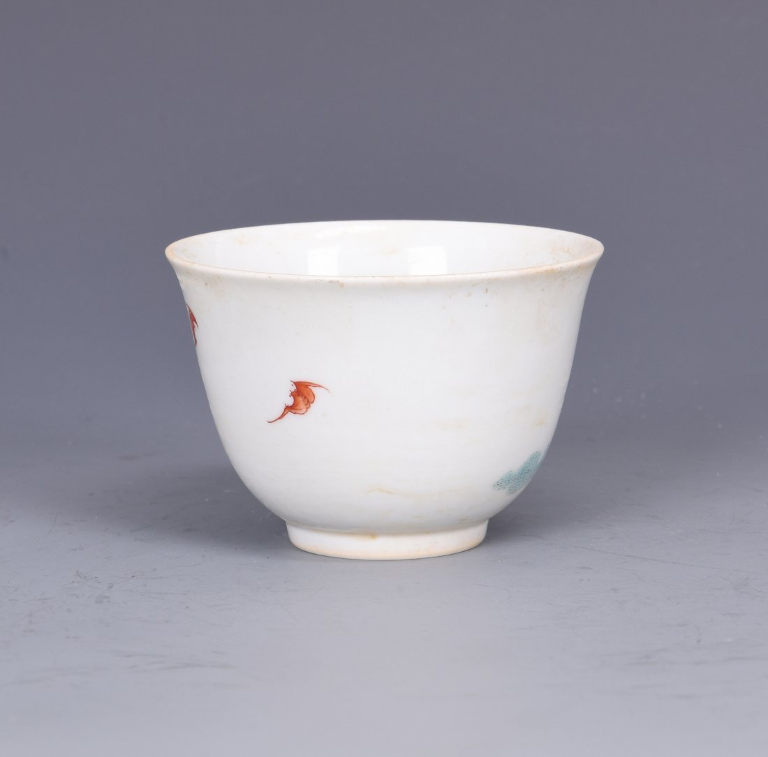 A FAMILLE ROSE PORCELAIN 'FIGURES'  CUP, QING DYNASTY - 4