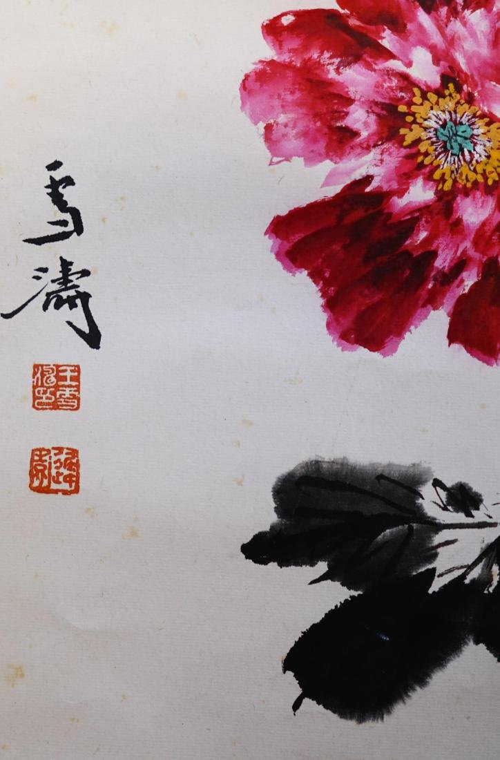 A CHINESE SCROLL PAINTING OF FLOWER - 2