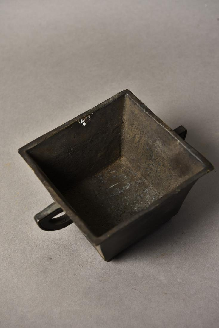 A CHINESE BRONZE CENSER - 4