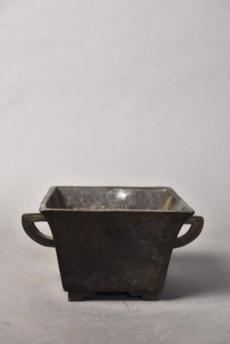A CHINESE BRONZE CENSER