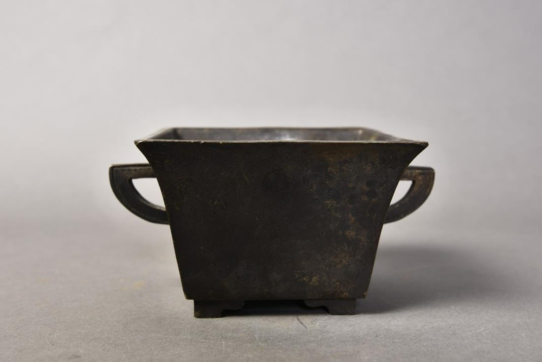A CHINESE BRONZE CENSER - 2