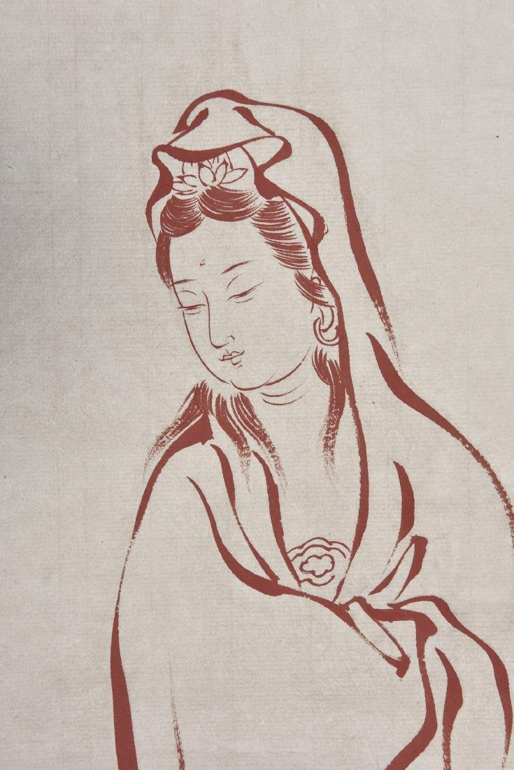A CHINESE SCROLL PAINTING OF GUANYIN - 3