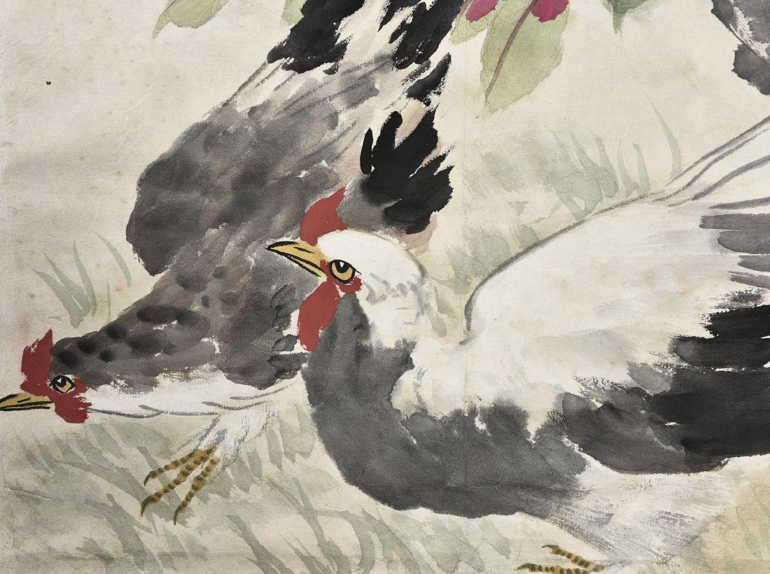 A CHINESE SCROLL PAINTING OF COCK - 2