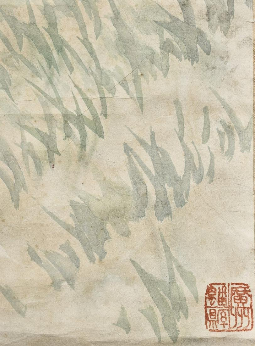A CHINESE SCROLL PAINTING OF COCK - 7
