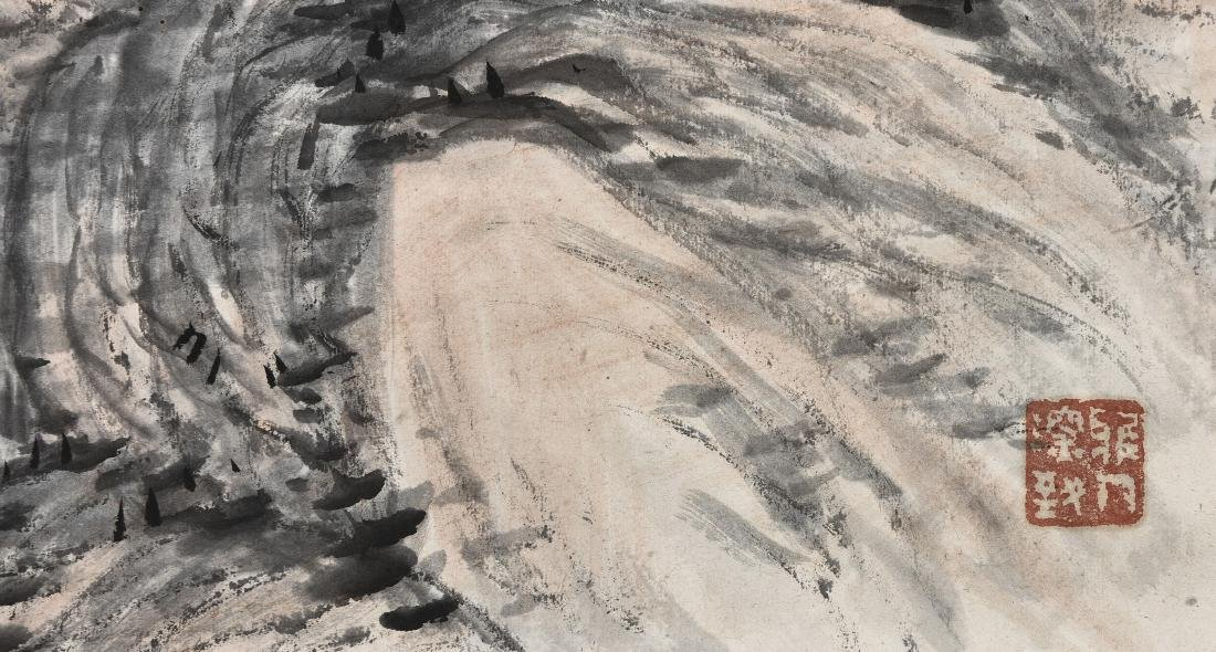 A CHINESE SCROLL PAINTING OF LANDSCAPE - 2