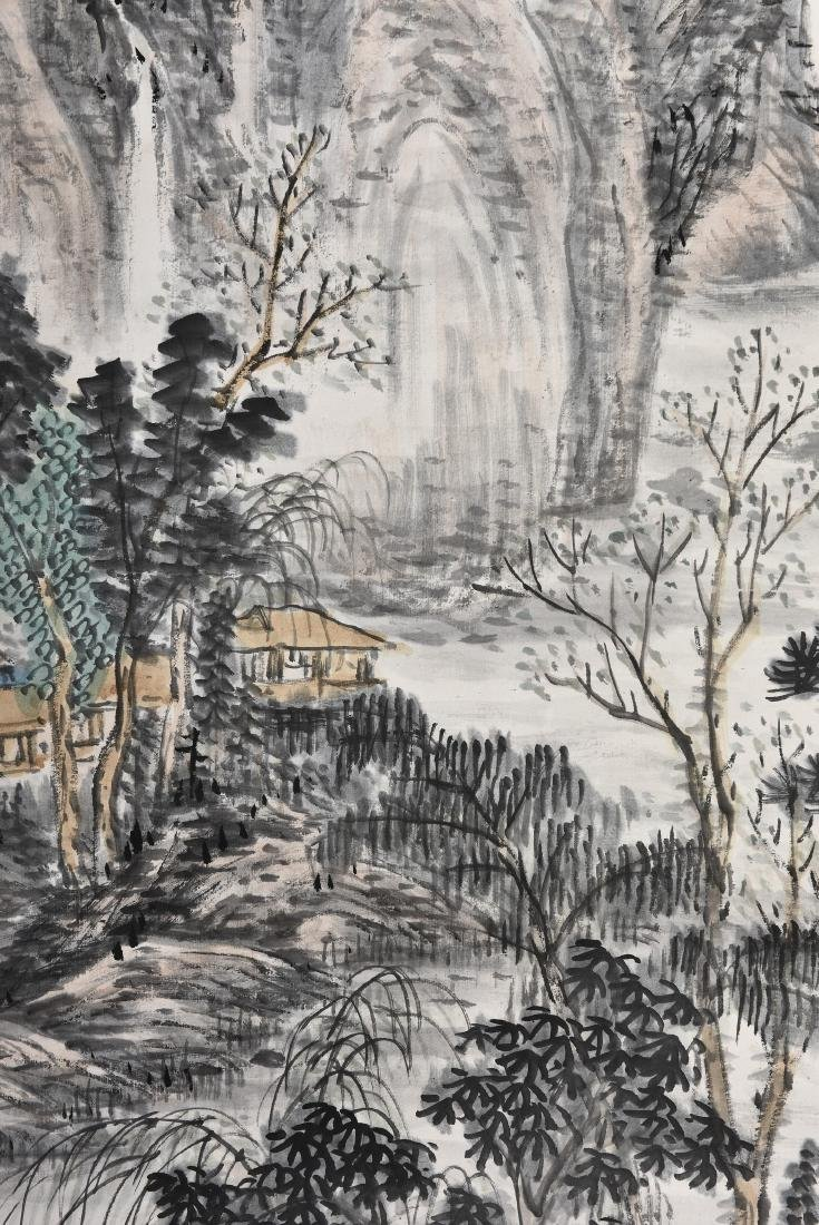 A CHINESE SCROLL PAINTING OF LANDSCAPE - 4