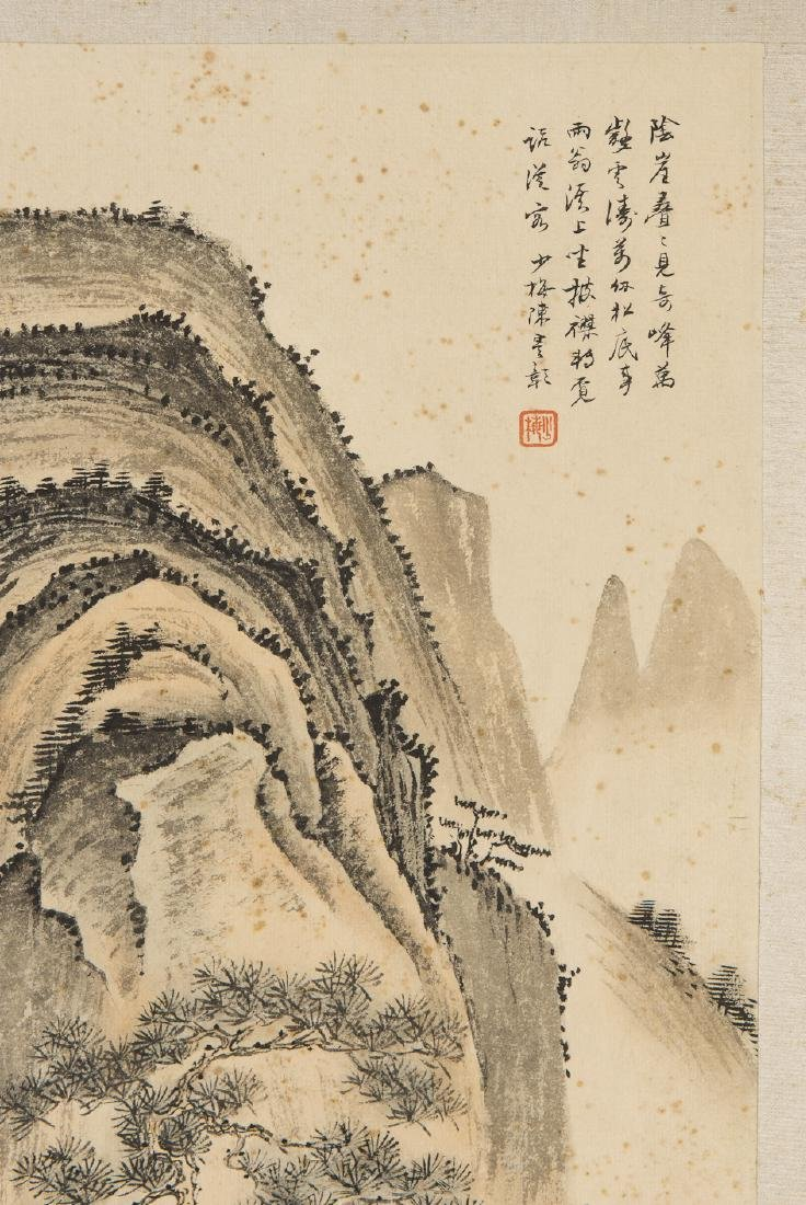 A CHINESE  PAINTING OF LANDSCAPE - 2