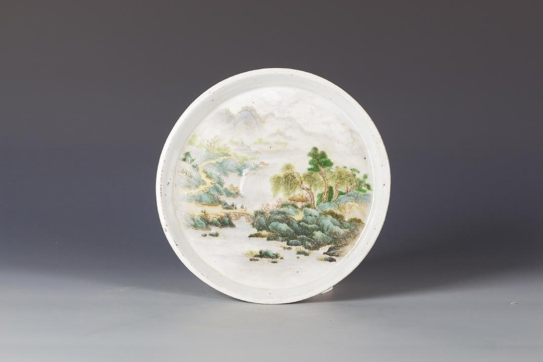 Ming Style Cobalt Blue Porcelain Bowl - 4