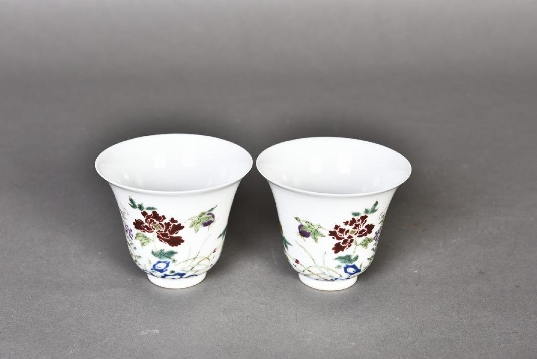 A PAIR OF FAMILLE ROSE CUPS - 2