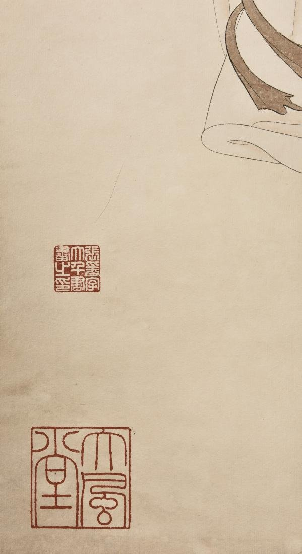 A CHINESE SCROLL PAINTING OF BEAUTY - 2