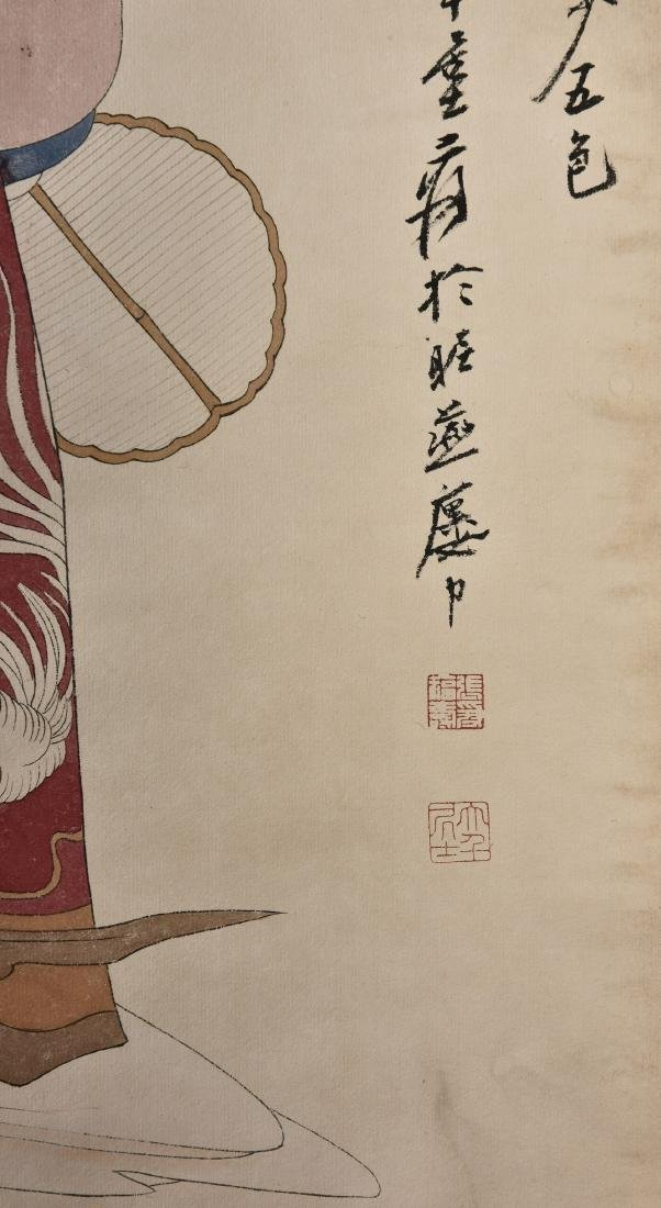 A CHINESE SCROLL PAINTING OF BEAUTY - 3