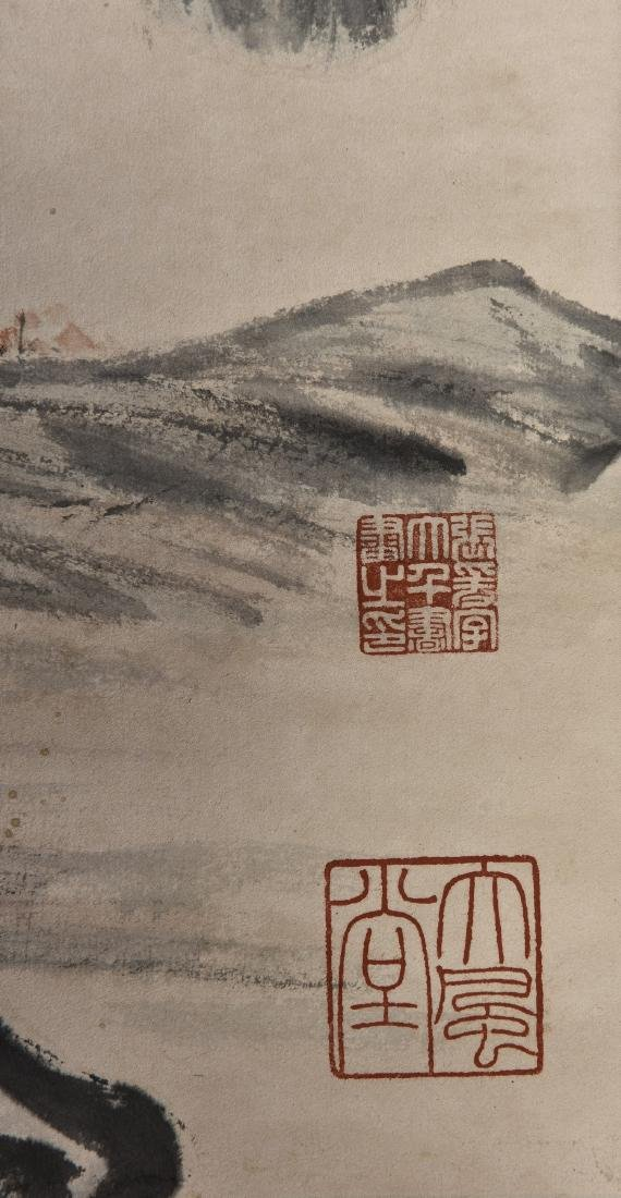 A CHINESE SCROLL PAINTING OF SCHOLAR - 2