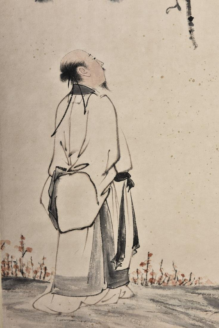 A CHINESE SCROLL PAINTING OF SCHOLAR - 3