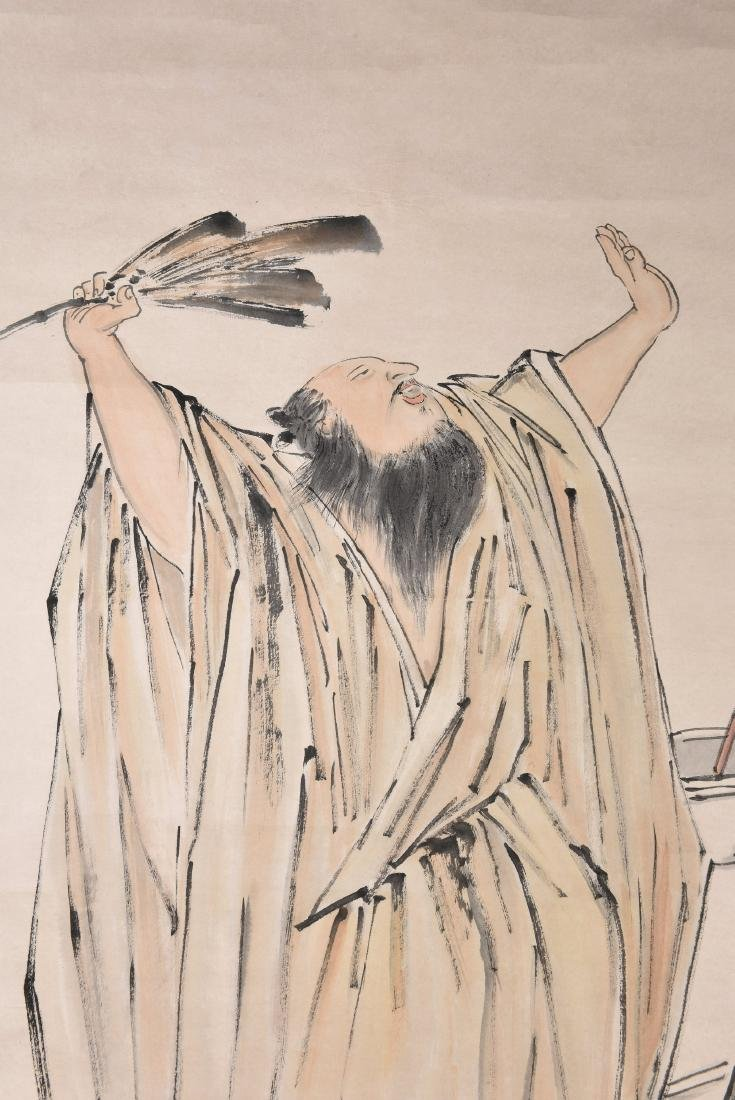 A CHINESE SCROLL PAINTING OF FIGURES - 4