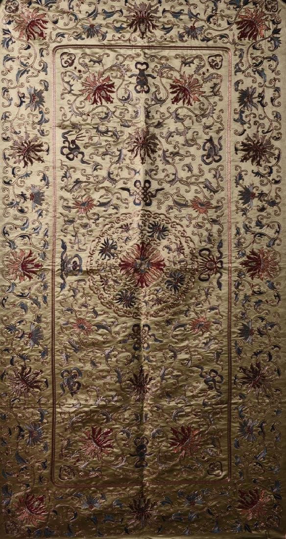 A LARGE CHINESE EMBROIDERY